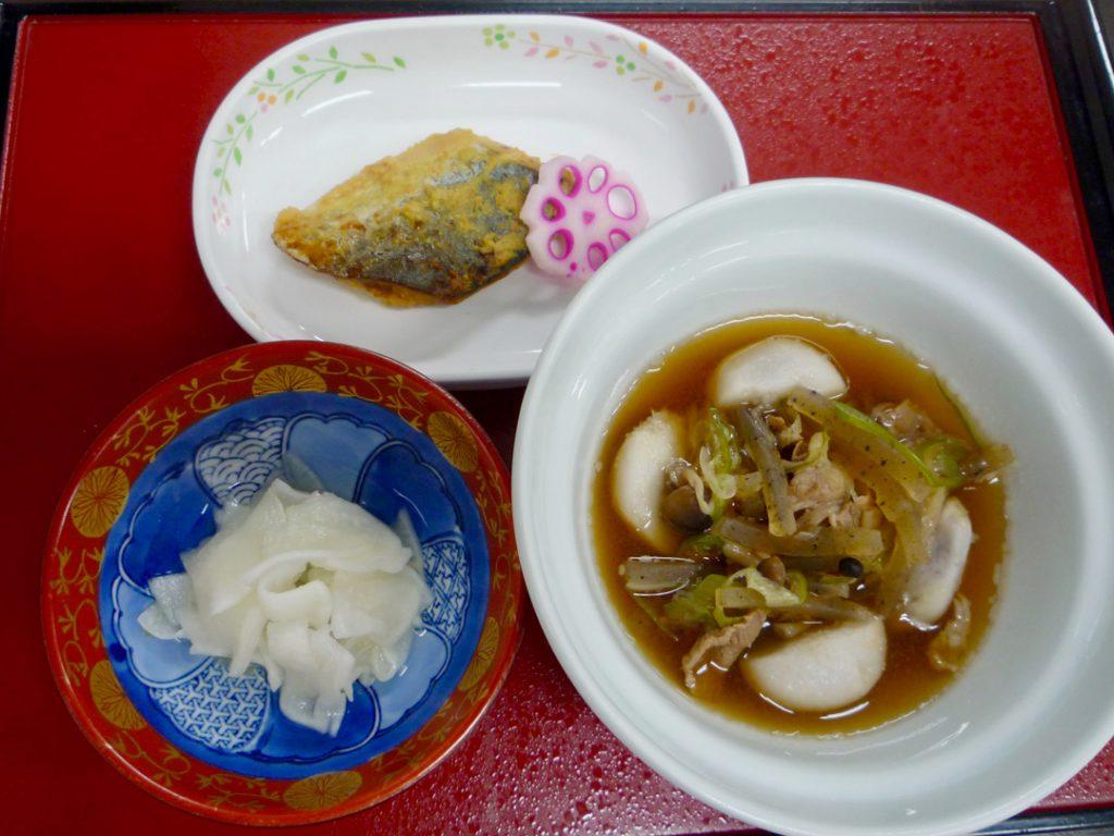 山形芋煮・さわらの西京焼き